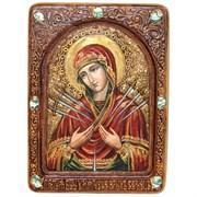 Умягчение злых сердец образ Божией Матери живописная икона в авторском стиле