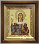 Вера Святая мученица, икона в киоте 16х19 см