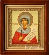 Галина Святая мученица, икона в киоте 16х19 см