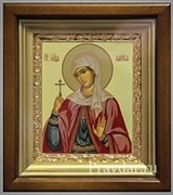 Лариса Святая мученица, икона в киоте 16х19 см