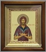 Алексий Человек Божий, икона в киоте 16х19 см
