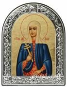 Алла Святая мученица, икона с серебряной рамкой