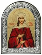 Ксения Петербургская, икона с серебряной рамкой