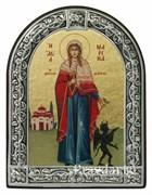Марина Святая мученица, икона с серебряной рамкой