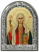 Нина Святая равноапостольная, икона с серебряной рамкой