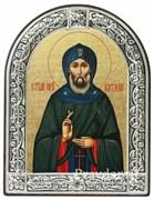 Виталий Святой преподобный, икона с серебряной рамкой