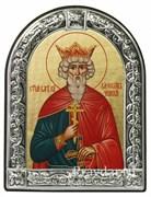 Вячеслав Святой князь, икона с серебряной рамкой