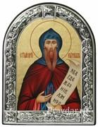 Кирилл Святой преподобный, икона с серебряной рамкой
