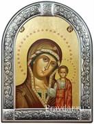 Казанская Божья Матерь, икона с серебряной рамкой