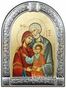 Святое Семейство, икона с серебряной рамкой