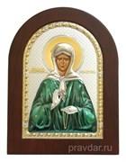 Матрона Московская, икона с серебряным окладом