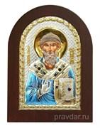 Спиридон Тримифунтский, икона с серебряным окладом