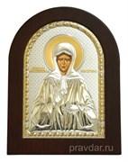 Матрона Московская, икона с серебряным окладом без эмали