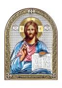 Господь Вседержитель, серебряная икона с позолотой и цветной эмалью