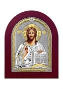 Господь Вседержитель, серебряная икона деревянный оклад