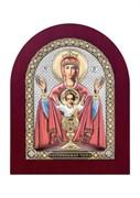 Неупиваемая чаша, серебряная икона деревянный оклад цветная эмаль