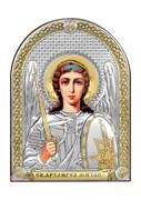 Михаил Архангел, серебряная икона с позолотой