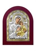 Страстная Божия Матерь, серебряная икона деревянный оклад