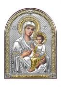 Скоропослушница Божия Матерь, серебряная икона с позолотой