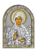Матрона Московская, серебряная икона с позолотой