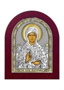 Матрона Московская, серебряная икона деревянный оклад