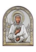 Ксения Петербургская, серебряная икона с позолотой
