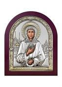 Ксения Петербургская, серебряная икона деревянный оклад
