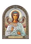 Ангел Хранитель, серебряная икона с позолотой и цветной эмалью