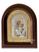 Вифлеемская Божья Матерь, серебряная икона в деревянном киоте, золочение