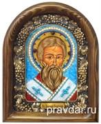 Арсений Сербский, дивеевская икона из бисера ручной работы