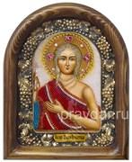 Мария Египетская, дивеевская икона из бисера ручной работы