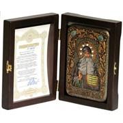 Максим Грек икона ручной работы под старину Old modern (поясная)