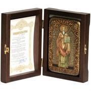 Мефодий Святой равноапостольный, икона ручной работы под старину