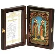 Петр и Феврония икона ручной работы Old Modern 10x15 см