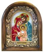 Святое Семейство (БМ Три радости), дивеевская икона из бисера ручной работы