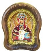 Державная икона Божьей Матери, дивеевская икона 15х17 см