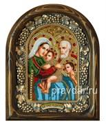 Трех Радостей Божья Матерь, дивеевская икона из бисера ручной работы