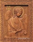 Михаил Архангел, резная икона на дубовой цельноламельной доске