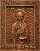 Параскева Пятница, резная икона на дубовой цельноламельной доске