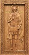 Виктор Святой мученик, резная икона на дубовой цельноламельной доске (ростовая)