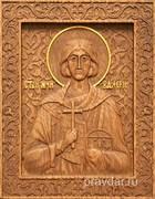 Валерий Святой мученик, резная икона на дубовой цельноламельной доске