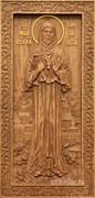 Елисавета Святая княжна, резная икона на дубовой цельноламельной доске (ростовая)