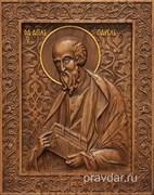Павел Святой Апостол, резная икона на дубовой цельноламельной доске