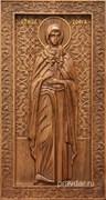 София Святая мученица, резная икона на дубовой цельноламельной доске (ростовая)