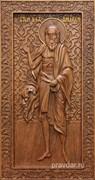 Андрей Святой Блаженный, резная икона на дубовой цельноламельной доске (ростовая)
