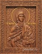 Мария Магдалина, резная икона на дубовой цельноламельной доске