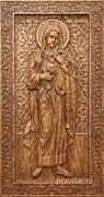 Мария Магдалина, резная икона на дубовой цельноламельной доске (ростовая)