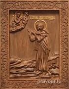 Варвара Скворчихинская, резная икона на дубовой цельноламельной доске