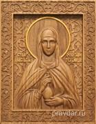 Анастасия Римская, резная икона на дубовой цельноламельной доске