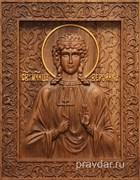 Вероника Святая, резная икона на дубовой цельноламельной доске